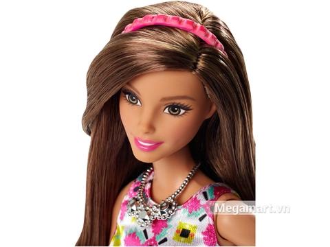 Barbie Style Glam váy hồng Retro xinh đẹp kiêu kì