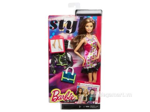 Thông tin chung bộ đồ chơi Barbie Style Glam váy hồng Retro