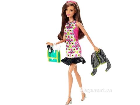 Barbie Style Glam váy hồng Retro gồm nhiều chi tiết đẹp