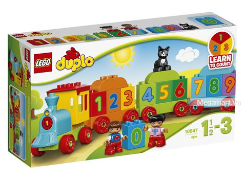 Hình ảnh vỏ hộp bộ Lego Duplo 10847 - Tàu lửa số học