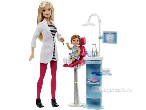 Barbie Bộ bác sĩ nha khoa - toàn cảnh bộ sản phẩm
