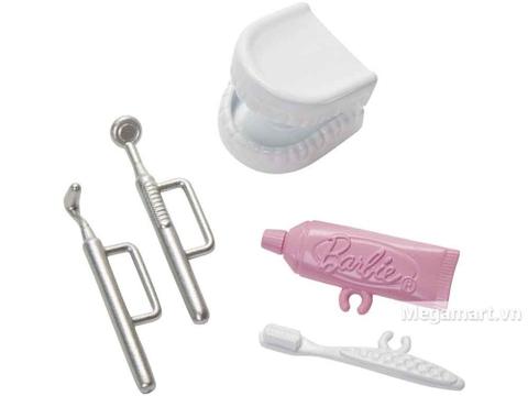 Barbie Bộ bác sĩ nha khoa - Phụ kiện khám chữa răng