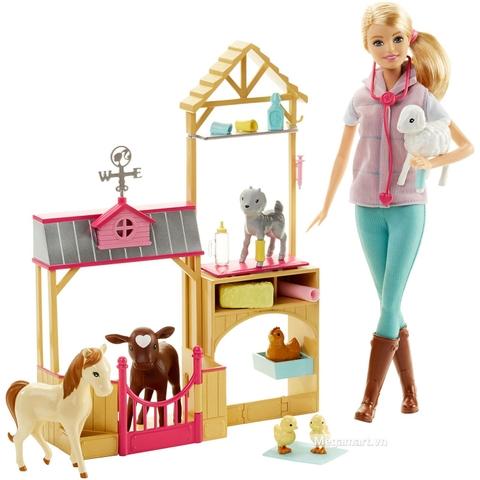 Barbie Bộ đồ chơi trang trại thú y DHB71 - Các chi tiết chính có trong bộ sản phẩm