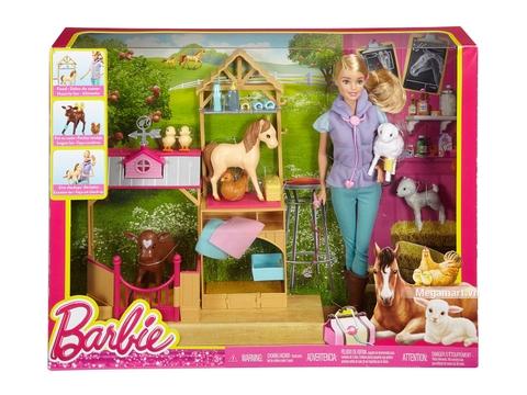 Barbie Bộ đồ chơi trang trại thú y DHB71 - Vỏ ngoài hộp sản phẩm