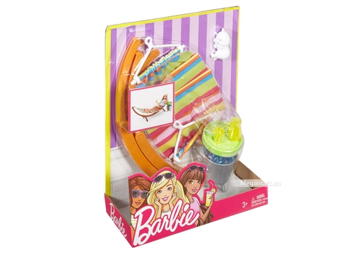 Barbie Bộ phụ kiện tắm nắng - Hình ảnh vỏ hộp sản phẩm
