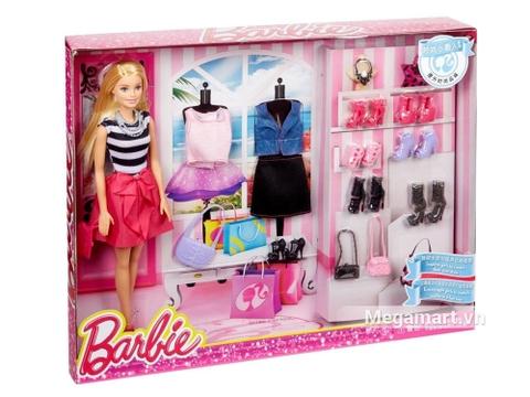 Barbie Bộ thời trang giày búp bê- Vỏ hộp sản phẩm búp bê