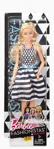 Barbie Fashionistas - Áo họa tiết caro váy sọc - Ảnh vỏ hộp sản phẩm