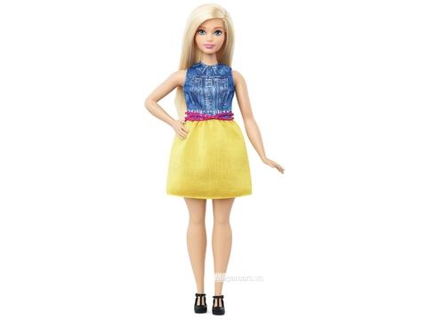 Barbie Fashionistas - Dáng mập, áo vải chambray - Đồ chơi búp bê cho bé gái