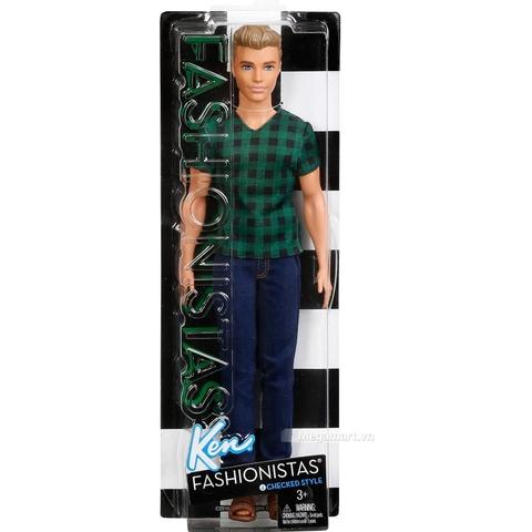 Barbie Fashionistas Ken - Áo caro - Vỏ hộp sản phẩm