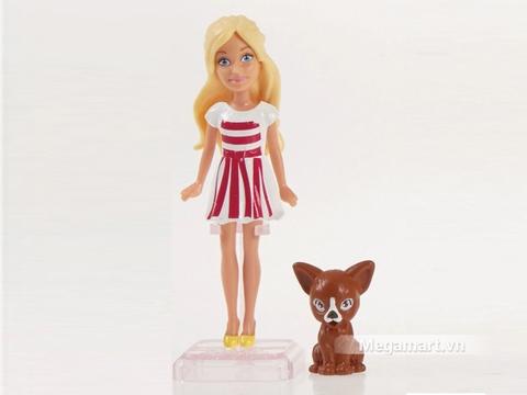 Hình ảnh vỏ hộp bộ Barbie Tí hon và thú cưng