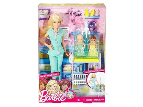 Barbie Bộ búp bê Bác sĩ nhi - Vỏ hộp sản phẩm