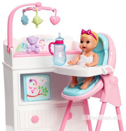 Barbie Bộ búp bê trông nhà trẻ - Trẻ sẽ được barbie chăm sóc chu đáo