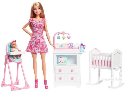 Barbie Bộ búp bê trông nhà trẻ - Hình ảnh chi tiết của bộ sản phẩm