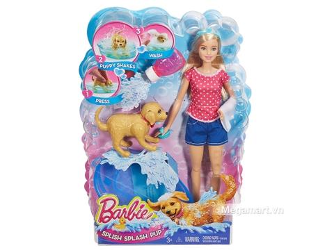 Barbie bộ đồ chơi phòng tắm thú cưng và Búp bê rất thú vị