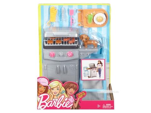 Barbie Bộ phụ kiện nướng thịt ngoài trời - Hình ảnh vỏ hộp sản phẩm