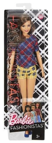 Barbie Fashionistas - Dáng cao áo váy kẻ sọc caro - Vỏ ngoài sản phẩm