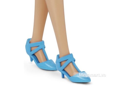 Barbie Fashionistas - Họa tiết hoa dáng cao - giày cao gót đẹp