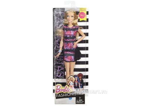 Barbie Fashionistas - Họa tiết hoa dáng cao với vỏ hộp và đóng gói chắc chắn