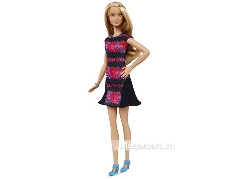 Barbie Fashionistas - Họa tiết hoa dáng cao gồm nhiều chi tiết đẹp