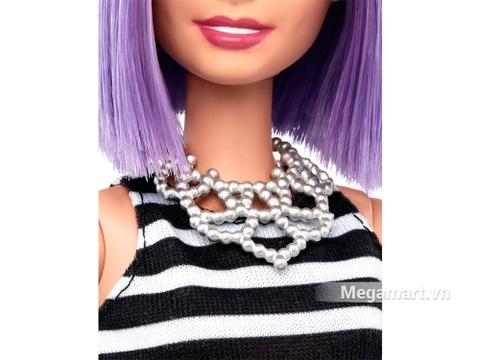 Barbie Fashionistas - Tóc tím - vòng cổ lấp lánh