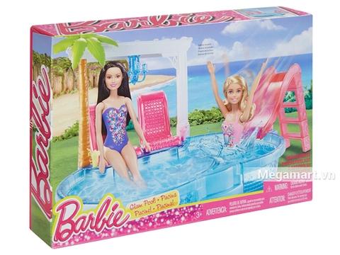 Barbie Hồ bơi của glam - Cách đóng gói, sản phẩm không kèm barbie