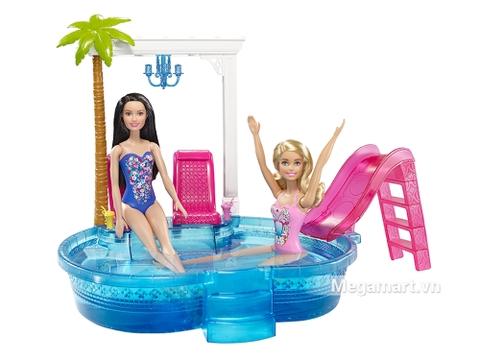 Barbie Hồ bơi của glam gồm những chi tiết thú vị như bể bơi và phụ kiện