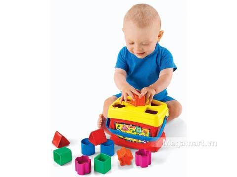 Fisher Price Hộp thả hình khối - bé vui chơi năng động