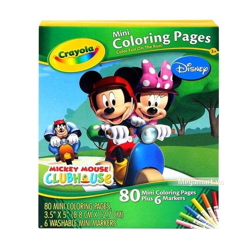 Hình ảnh vỏ hộp bộ Crayola Bộ bút giấy tô màu hình nhân vật (3 trong 4 hình)