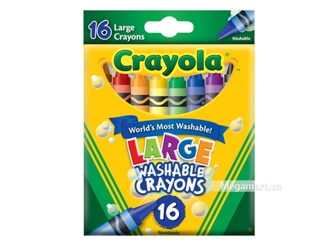 Thiết kế ấn tượng của Crayola Bút sáp 16 màu (loại lớn) (có thể tẩy rửa được)