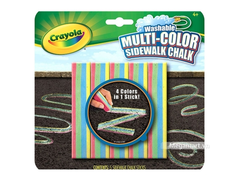 Thiết kế ấn tượng của Crayola Phấn hỗn hợp 4 màu (1 cục phấn có 4 màu)