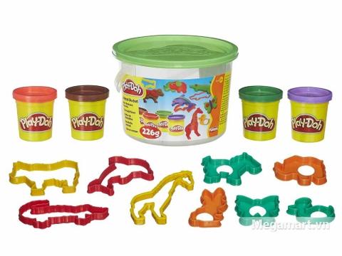 Play-Doh 23413 - Thế giới động vật mini - toàn bộ các chi tiết chính