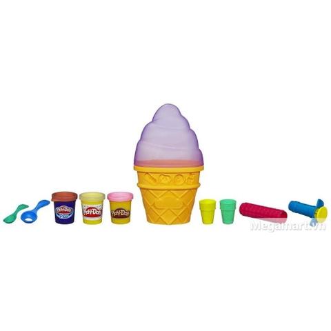 Play-Doh A2743 - Máy làm kem - Các dụng cụ có trong bộ đất nặn