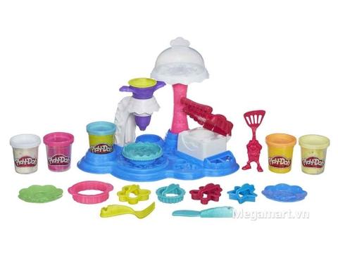 Play-Doh B3399 - Bữa tiệc bánh ngọt - các chi tiết trong bộ sản phẩm