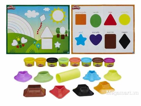 Play-Doh B3404 - Khuôn hình học đơn giản - Các khuôn