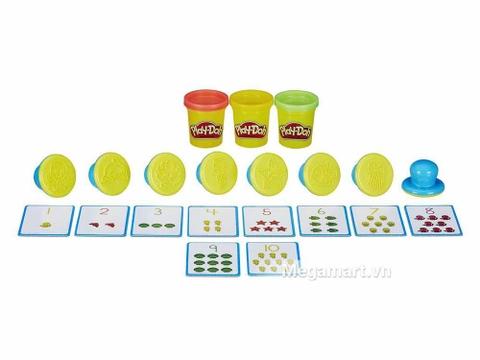 Play-Doh B3406 - Khuôn chữ số vui nhộn - bộ đồ chơi đất nặn dành cho bé từ 2 tuổi trở lên