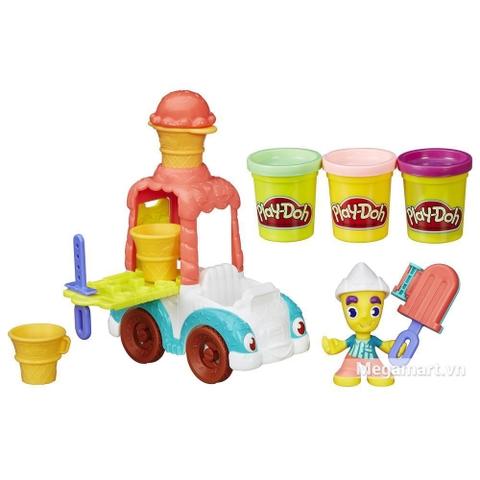Play-Doh B3417 - Xe kem sắc màu - Thiết kế ấn tượng