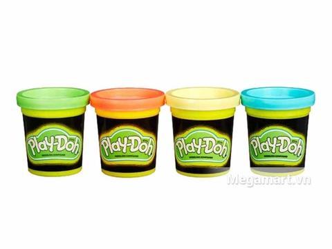 Play-Doh B3670 - Bột nặn 4 màu dạ quang - Thiết kế ấn tượng