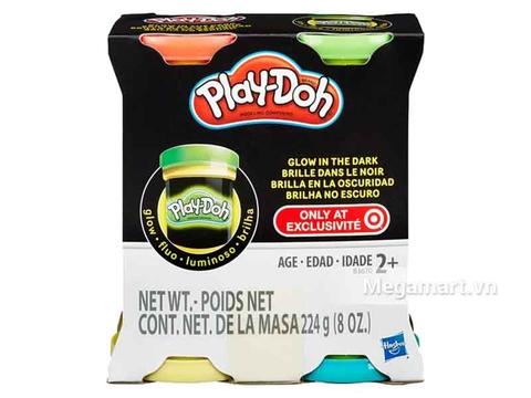 Play-Doh B3670 - Bột nặn 4 màu dạ quang - Hình ảnh vỏ hộp