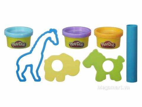 Play-Doh B4159 - Sở thú mini - các chi tiết trong bộ sản phẩm