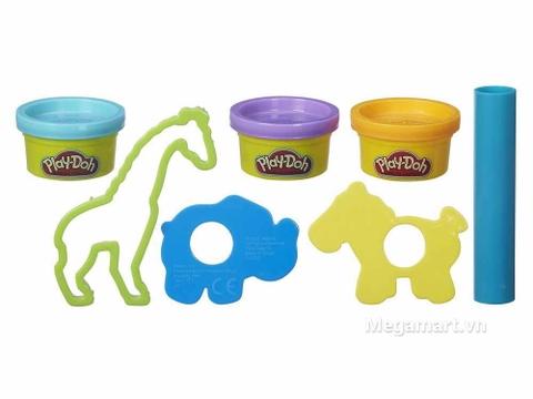 Play-Doh B4159 - Sở thú mini - chú hươu màu xanh mạ
