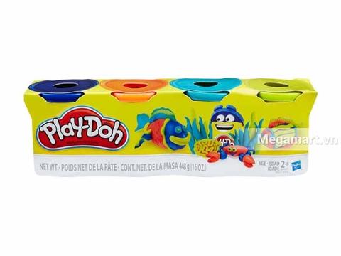 Hộp Play-Doh B5517 - Bột nặn 4 màu 448g loại thứ 1