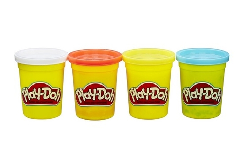 Play-Doh B5517 - Bột nặn 4 màu 448g - Thiết kế ấn tượng