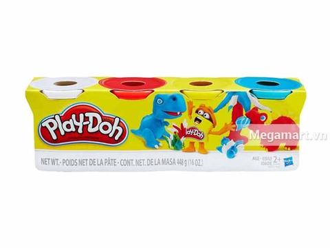 Play-Doh B5517 - Bột nặn 4 màu 448g - Hình ảnh vỏ hộp