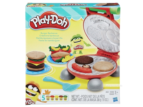 Play-Doh B5521 - Bánh burger - Hình ảnh vỏ hộp