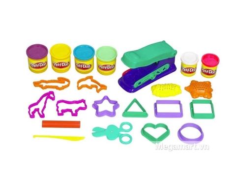 Các chi tiết có trong Play-Doh B6767 - Hộp dụng cụ khổng lồ