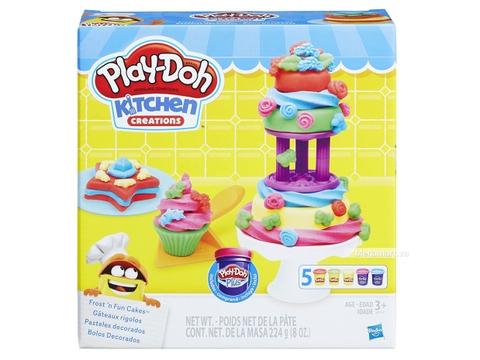 Play-Doh B9741 Tháp kem sắc màu - Vỏ hộp nhìn từ bên ngoài