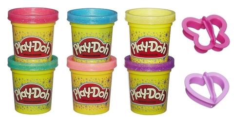 Play-Doh A5417 - Bột nặn 6 màu lấp lánh giúp bé phát triển trí sáng tạo