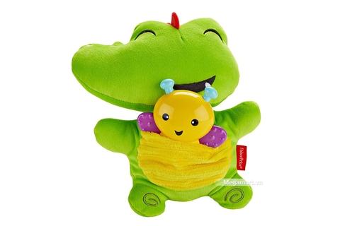 Fisher Price Cá sấu bông kèm bướm ngậm nướu phát sáng giúp kích thích giác quan của trẻ nhỏ