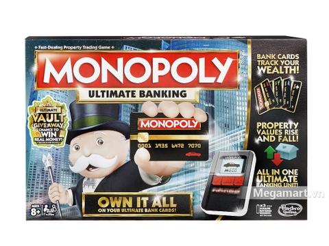 Hình ảnh vỏ hộp bộ Hasbro Gaming Cờ tỷ phú ngân hàng điện tử cao cấp