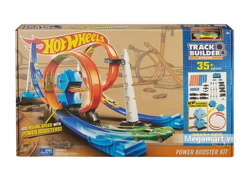 Hình ảnh vỏ hộp bộ Hot Wheels Đường đua gia tốc tranh tài